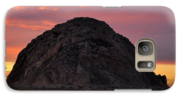Galaxy Case featuring the photograph Sunset On Morro Rock by AJ  Schibig