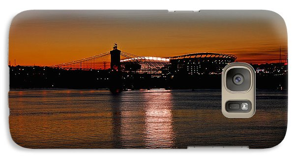 Galaxy Case featuring the photograph Sunset On Paul Brown Stadium by Mary Carol Story