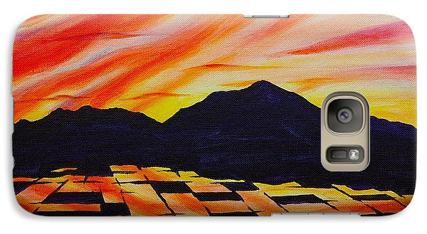 Galaxy Case featuring the painting Sunset On Rice Fields by Michele Myers