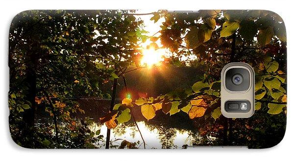 Galaxy Case featuring the photograph Sunset On Scout Lake by Kimberly Mackowski