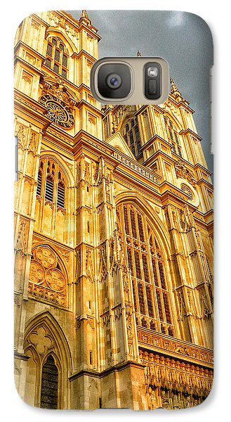 Westminster Abbey Galaxy S7 Case - Sunset On The Abbey  by Connie Handscomb