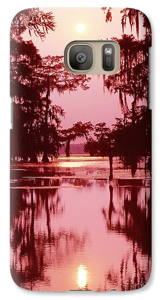 Galaxy Case featuring the photograph Sunset On The Bayou Atchafalaya Basin Louisiana by Dave Welling