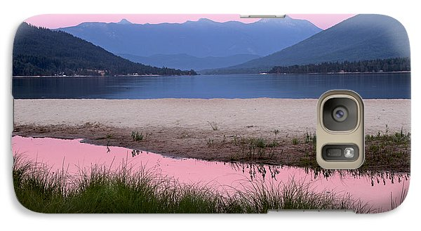 Galaxy Case featuring the photograph Sunset On The Beach by Peggy Collins