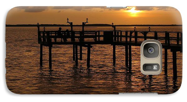 Sunset On The Dock Galaxy S7 Case by Peggy Hughes