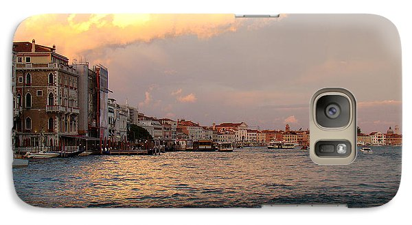 Galaxy Case featuring the photograph Sunset On The Grand Canal by Walter Fahmy