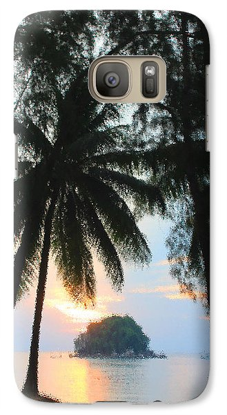 Galaxy Case featuring the photograph Sunset On The Island Of Tioman by Sergey Lukashin