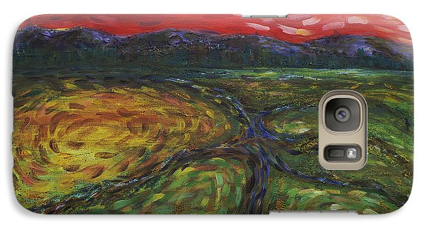 Galaxy Case featuring the painting Sunset On The Narrows by Cynthia Lagoudakis