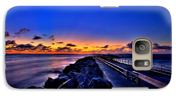 Galaxy Case featuring the painting Sunrise On The Pier by Bruce Nutting
