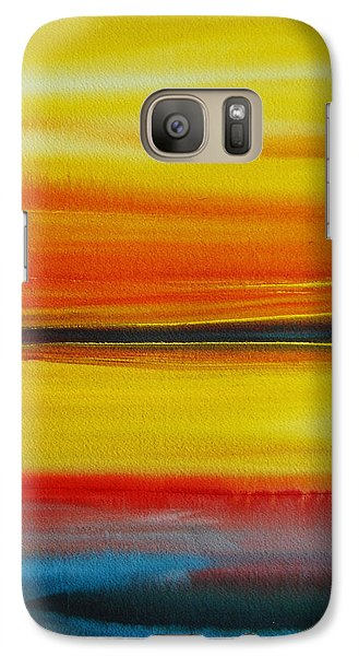 Galaxy Case featuring the painting Sunset On The Puget Sound by Jani Freimann