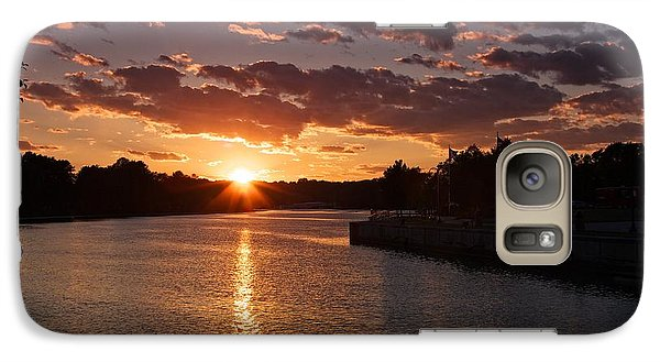 Galaxy Case featuring the photograph Sunset On The River by Dave Files