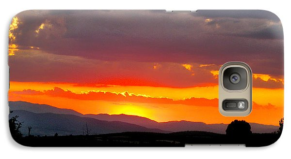 Galaxy Case featuring the photograph Sunset On The Road by Zafer Gurel