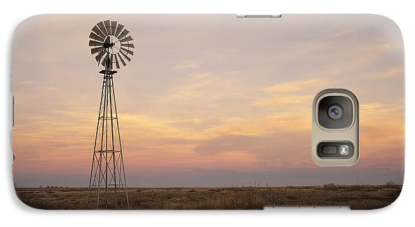 Sunset On The Texas Plains Galaxy S7 Case by Melany Sarafis