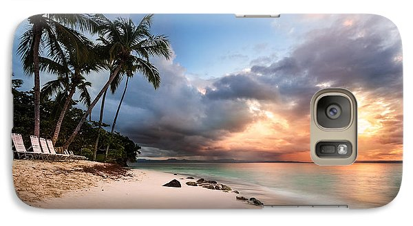 Galaxy Case featuring the photograph Sunset Over Bacardi Island by Mihai Andritoiu
