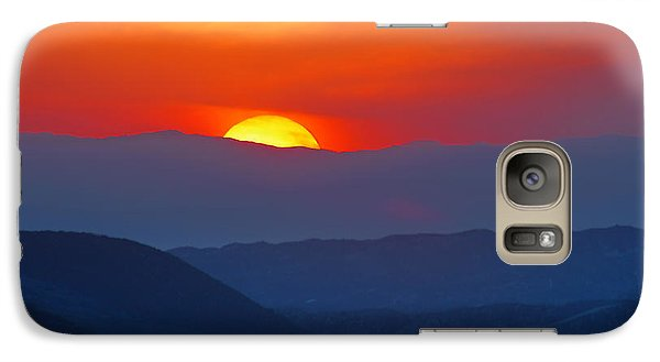 Galaxy Case featuring the photograph Sunset Over California by Martin Konopacki