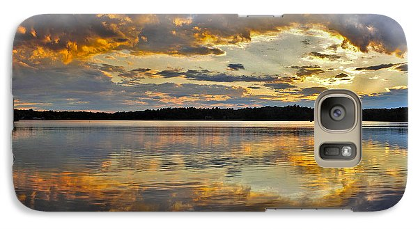 Galaxy Case featuring the photograph Sunset Over Canobie Lake by Sebastien Coursol