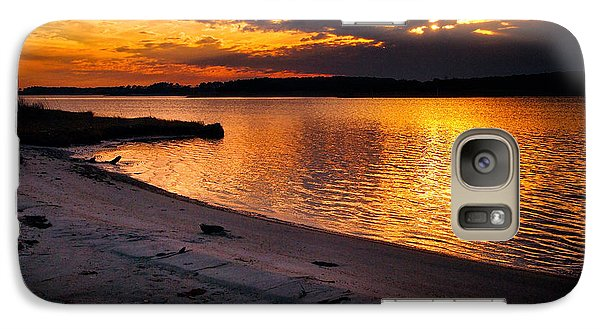 Sunset Over Little Assawoman Bay Galaxy S7 Case