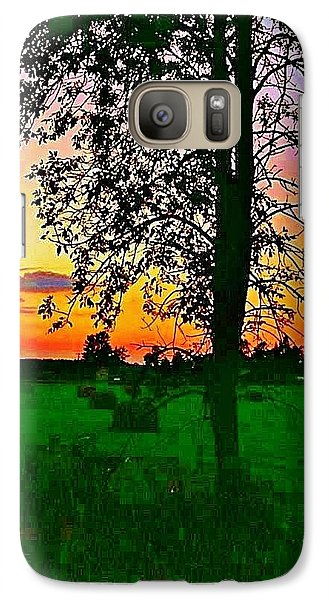 Galaxy Case featuring the photograph Sunset Over M-33 by Daniel Thompson