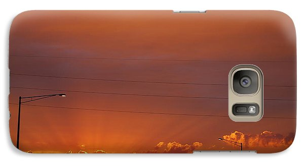 Galaxy Case featuring the photograph Sunset Over Madison by Ramona Whiteaker