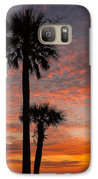 Galaxy Case featuring the photograph Sunset Over Marsh by Patricia Schaefer