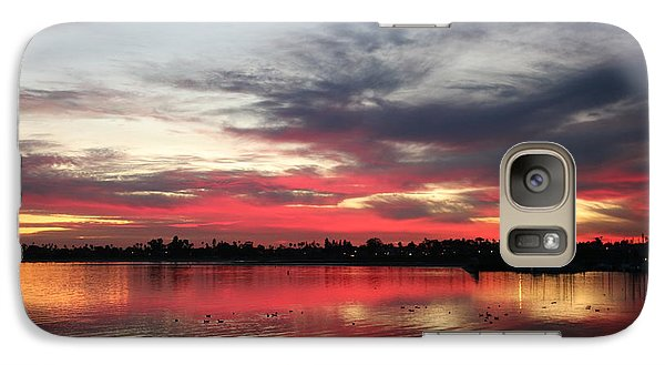 Galaxy Case featuring the photograph Sunset Over Mission Bay  by Christy Pooschke