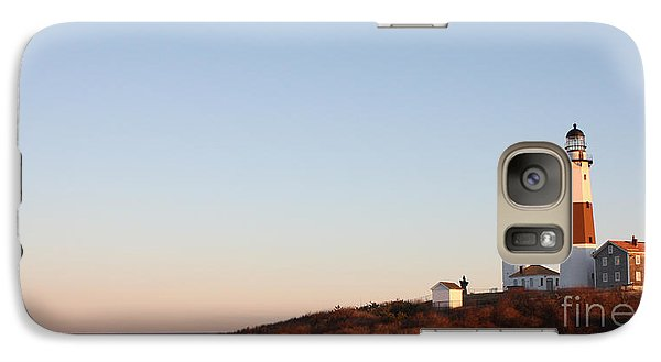 Galaxy Case featuring the photograph Sunset Over Montauk Lighthouse by John Telfer