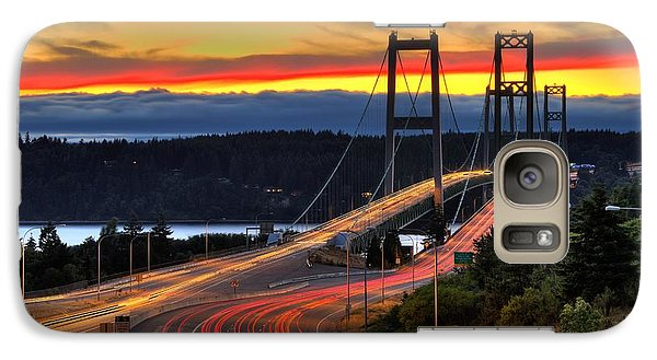 Galaxy Case featuring the photograph Sunset Over Narrows Bridges by Rob Green