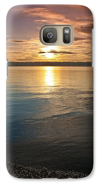 Galaxy Case featuring the photograph Sunset Over Puget Sound by Jeff Goulden