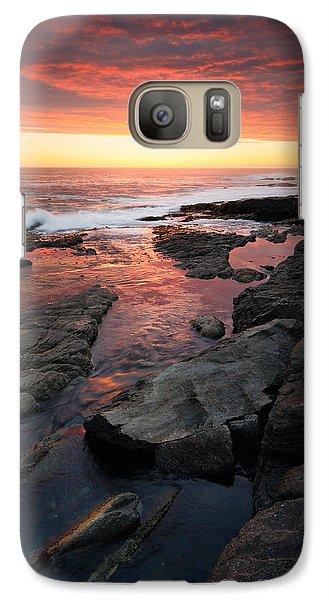 Sunset Over Rocky Coastline Galaxy S7 Case
