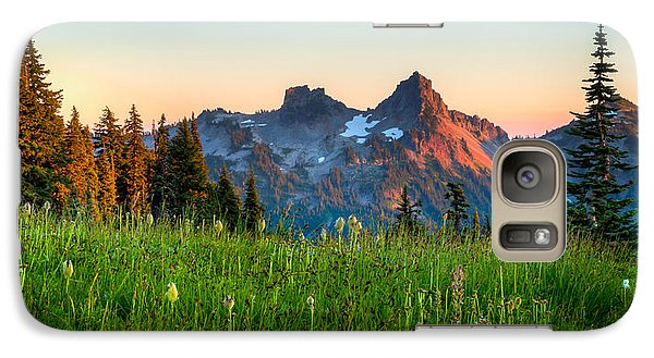 Galaxy Case featuring the photograph Sunset Over Tatoosh by Chris McKenna