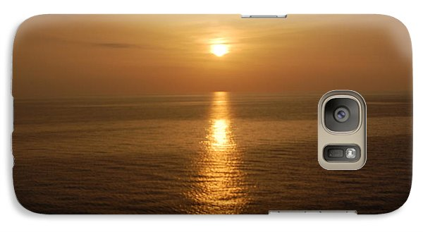 Galaxy Case featuring the photograph Sunset Over The Adriatic by Linda Prewer