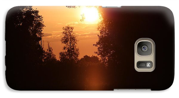 Galaxy Case featuring the photograph Sunset Over The Canals by Rogerio Mariani