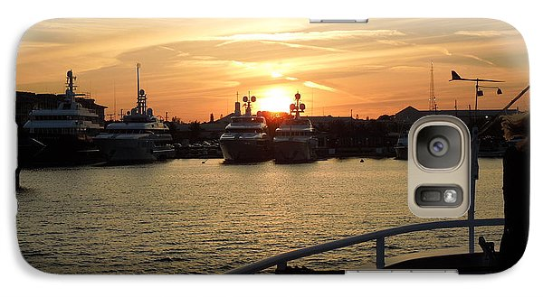 Galaxy Case featuring the photograph Sunset Over The Marina by Ron Davidson
