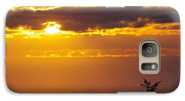 Galaxy Case featuring the photograph Sunset Over The Pacific by Adria Trail