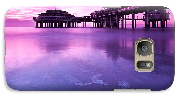 Galaxy Case featuring the photograph Sunset Over The Pier by Mihai Andritoiu