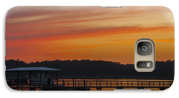 Galaxy Case featuring the photograph Sunset Over The Wando River by Dale Powell