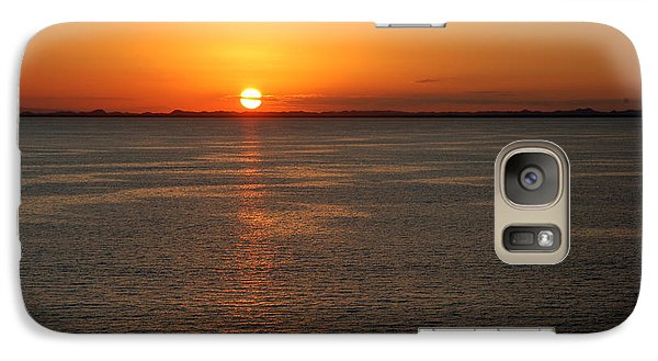Galaxy Case featuring the photograph Sunset Over Water by Allen Carroll