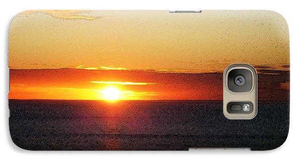 Sunset Painting - Orange Glow Galaxy S7 Case