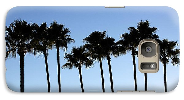 Galaxy Case featuring the photograph Sunset Palms by Chris Thomas