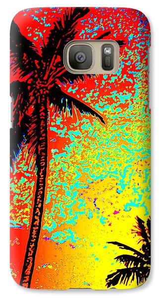 Galaxy Case featuring the photograph Sunset Palms by David Lawson