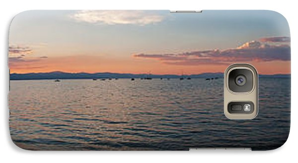 Galaxy Case featuring the photograph Sunset Panorama At Lake Tahoe California by Paul Topp