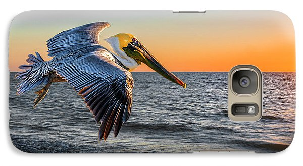 Galaxy Case featuring the photograph Sunset Pelican by Brian Tarr