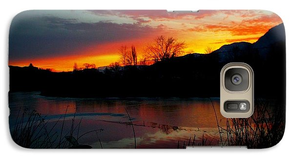 Galaxy Case featuring the photograph Sunset Pond by Guy Hoffman