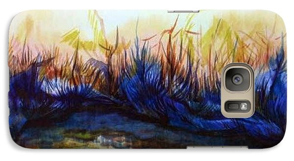 Galaxy Case featuring the painting Sunset Reflections by Anna  Duyunova