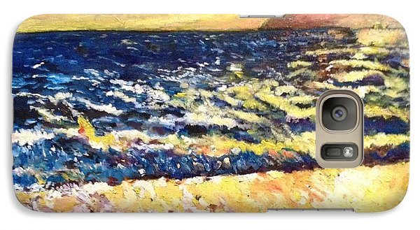 Galaxy Case featuring the painting Sunset Rest - Drama At Sea by Belinda Low