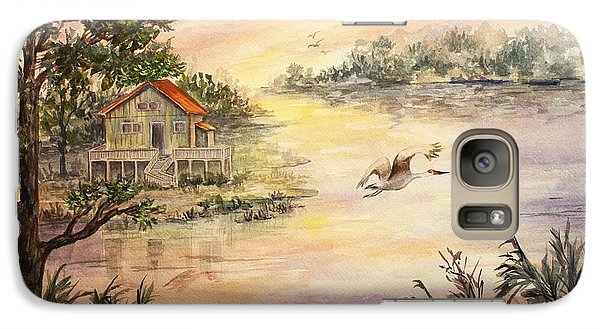 Galaxy Case featuring the painting Sunset Retreat by Roxanne Tobaison