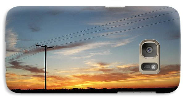 Galaxy Case featuring the photograph Sunset by Ryan Crouse