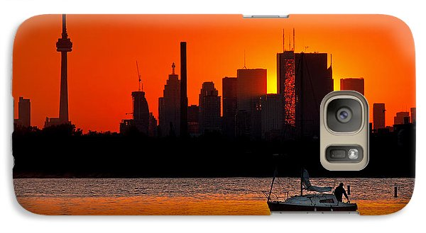 Galaxy Case featuring the photograph Sunset Sail Ashbridges Bay Toronto Canada by Brian Carson