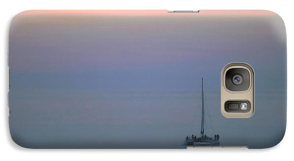 Galaxy Case featuring the photograph Sunset Sail by Clare VanderVeen
