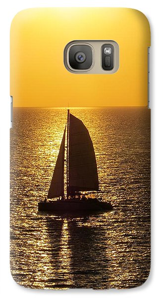 Galaxy Case featuring the photograph Sunset Sail by Jennifer Wheatley Wolf