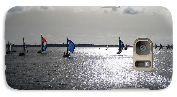 Galaxy Case featuring the photograph Sunset Sail by Judy Palkimas